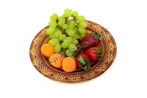 Тарелка малая ЖАСМИН 21 см красная