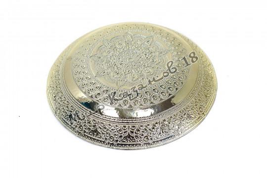 Блюдо большое ФИАЛКА 30 см серебро