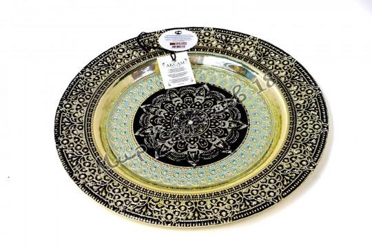 Тарелка большая ФИАЛКА 32 см серебро