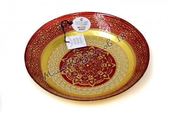 Блюдо большое ЖАСМИН 30 см красное