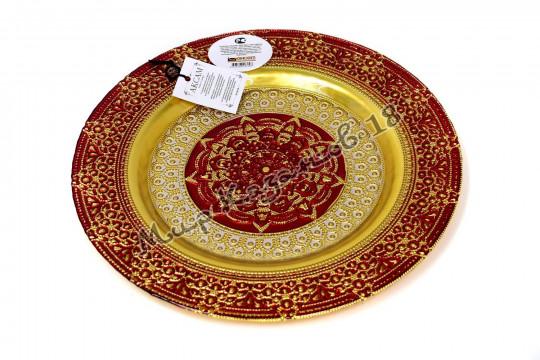 Тарелка средняя ЖАСМИН 28 см красная
