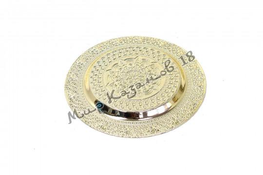 Тарелка малая ФИАЛКА 21 см серебро
