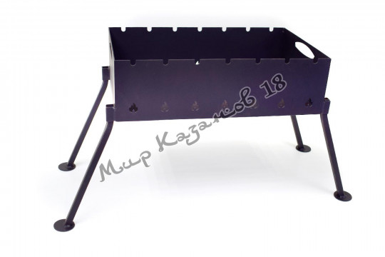 Мангал походный со съемными ножками 50х30 см, сталь 2 мм