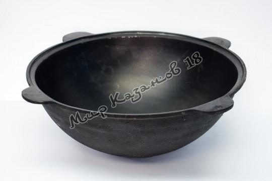 Узбекский чугунный казан круглое дно 6 л.+шумовка