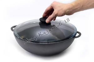 Сковорода WOK чугунная BIOL 26 см