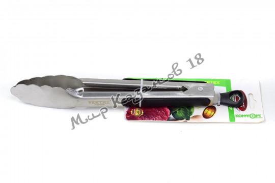 Щипцы металлические 26 см с резиновыми накладками на ручках