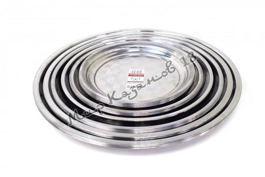 Поднос круглый диаметром 35 см Нержавеющая сталь