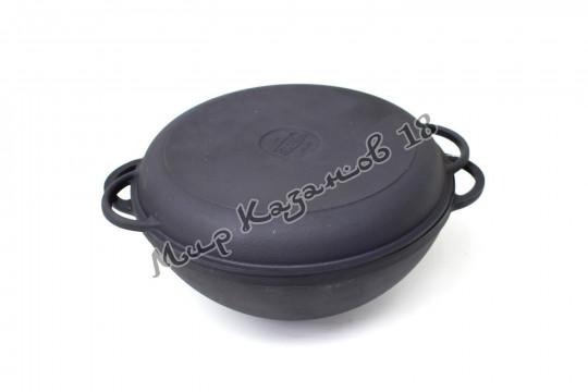 Чугунный казан Ситон 5,5 л. с крышкой-сковородой
