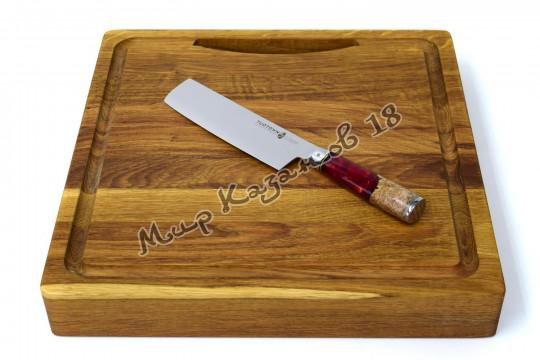 Нож для нарезки овощей (Накири) Tuotown TWR-D11, рукоять дерево+эпоксидка, сталь VG-10