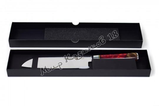 Нож для нарезки (Сантоку) Tuotown TWR-D6, рукоять дерево+эпоксидка, сталь VG-10