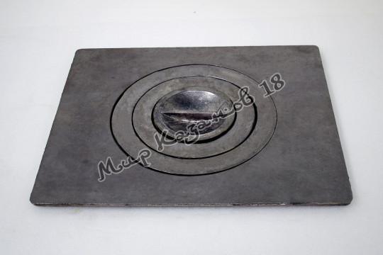 Плита чугунная одноконфорная П1-3М. Размер 41х34см, диаметр 24см. Тверь