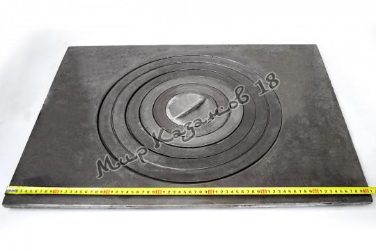 Плита чугунная одноконфорная П1-5. Размер 70,5х53см, диаметр 42см. Тверь