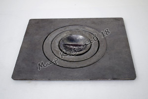 Плита чугунная одноконфорная П1-3. Размер 41х34см, диаметр 24см. Балезино