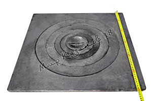 Плита чугунная одноконфорная П1-6. Размер 60х60см, диаметр 45см. Бежецкий ЛМЗ