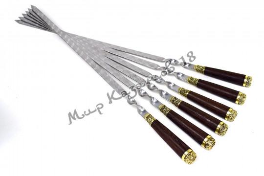 Подарочный набор плоских шампуров (Пикник) 6 шт 45 см