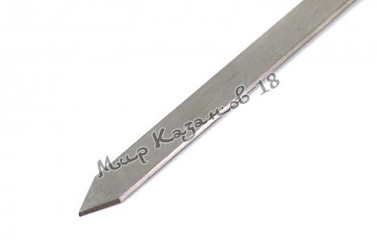 Шампур (премиум) из нерж. стали 450 х 12 х 3 мм Ручка дерево с огнеуп. кольцом