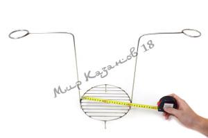 Этажерка (решётка) для тандыра (210х350 мм) 1 ярус, нержавейка