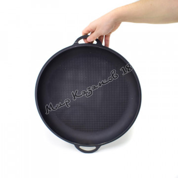 Крышка-сковорода чугунная для 8 л казана, D34см, Ситон
