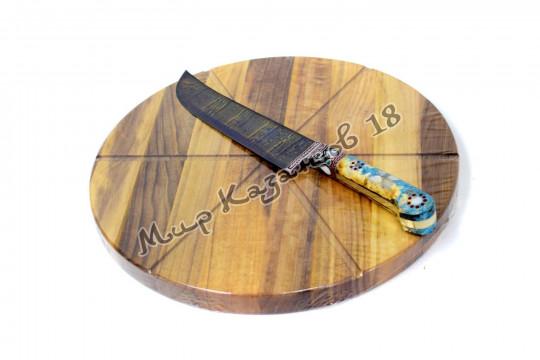 Разделочная доска для ПИЦЦЫ, диаметр 28 см Орех