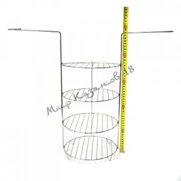 Этажерка (решётка) для тандыра (220х480 мм) 4 яруса, нержавейка