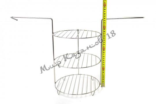 Этажерка (решётка) для тандыра (220х335 мм) 3 яруса, нержавейка