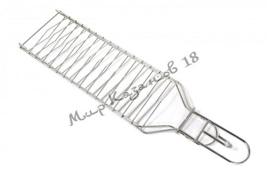 Решётка для рыбы в тандыр (480х125 мм), нержавейка