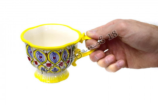 Чашка чайная (фарфор) НАКША Жёлтая 200мл