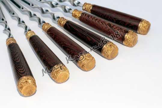 Подарочный набор угловых шампуров (Пикник) 6 шт 45 см