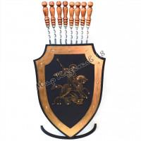 Подставка для шампуров Щит металл