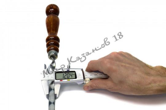 Шампур 55 см Ручка дерево с огнеупорным кольцом