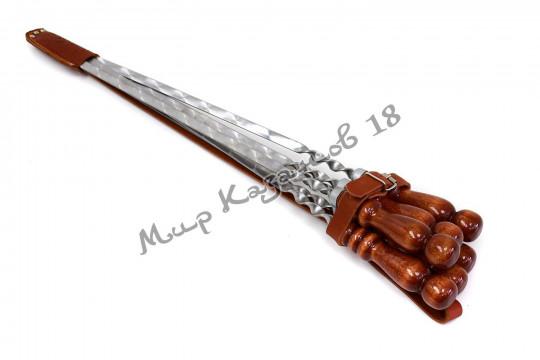 Подарочный чехол для шампуров мини Натуральная кожа