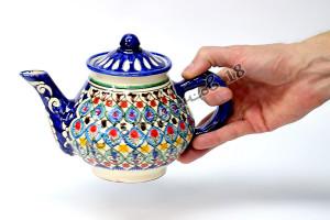 Чайник керамический 0,7 л. Синий