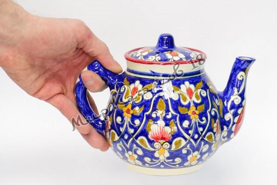 Чайник керамический 1 л. Qora galam синий