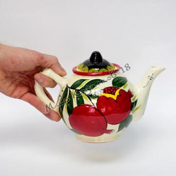 Чайник керамический 1 л. Гранат