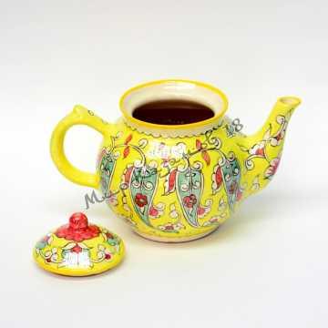 Чайник керамический 1 л. Жёлтый