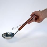 Половник 40 см с деревянной ручкой