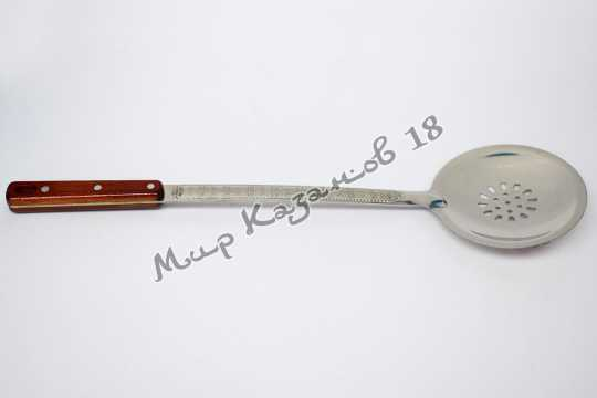 Шумовка 47 см с деревянной ручкой