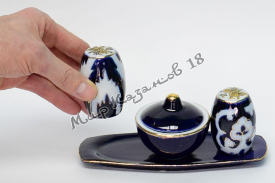 Набор солонок Пахта (фарфор)