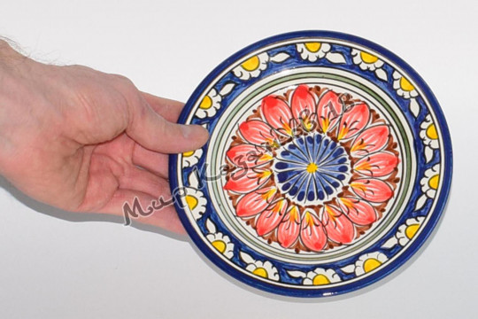 Тарелка (фарфор) 17 см НАКША Синяя