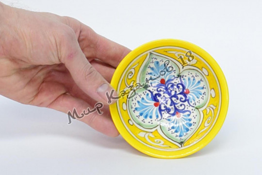 Пиала средняя (фарфор) Жёлтая