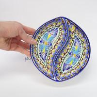 Менажница Накша синяя 18х17 см фарфор