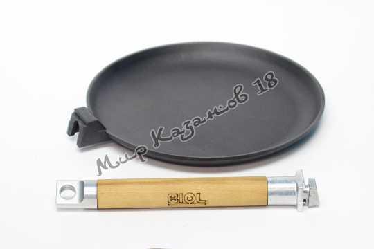 Сковорода блинная чугунная BIOL 24 см