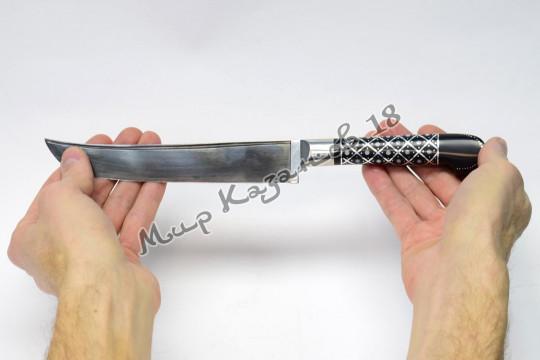 Пчак средний, рукоять Текстолит, сапожок, гарда олово, сталь ШХ 15