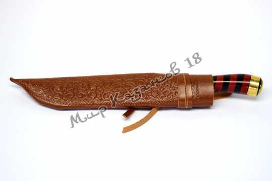 Пчак средний, рукоять Эбонит, гарда олово, сталь ШХ 15