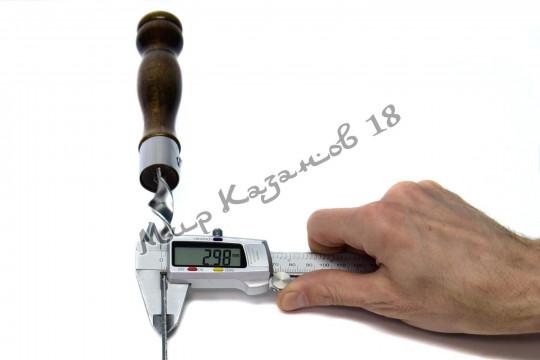 Шампур из нерж. стали 450 х 16 х 3 мм Ручка дерево с огнеуп. кольцом (тур. лак)