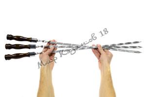 Шампур 50 см Ручка дерево с огнеупорным кольцом (турецкий лак)