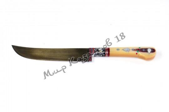 Пчак чирчик, рукоять текстолит, гарда олово, сталь ШХ 15