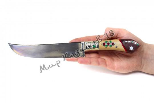 Пчак средний, рукоять Текстолит, гарда мельхиор, сталь ШХ 15