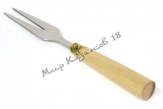 Подарочная вилка с ручкой Дуб