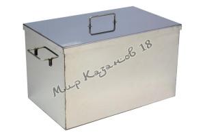 Коптильня 50х30х30 см без гидрозатвора 2 мм Плоская крышка